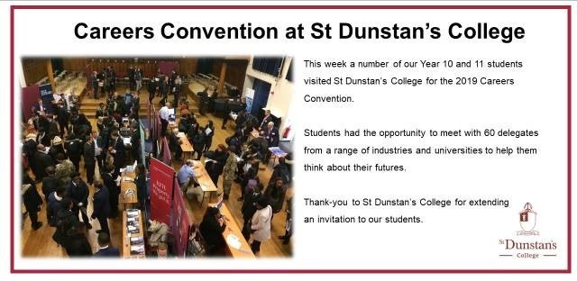 Careers convention at st dunstans