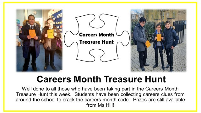 Careers month treasure hunt