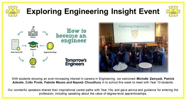 Exploring engineering insight event