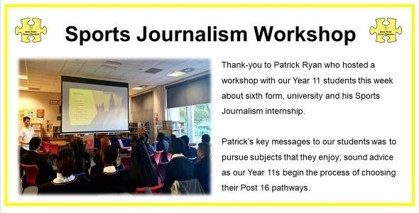 Sports journalism workshop