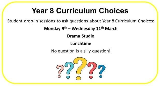 Year 8 curriculum choices