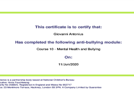 Anti Bullying Course