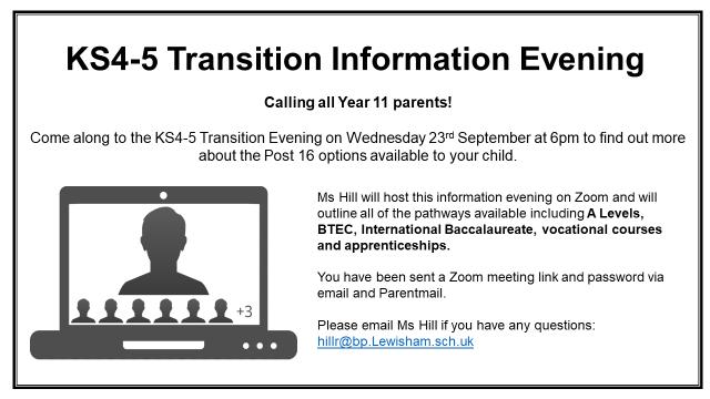 KS4 5 Transition Evening