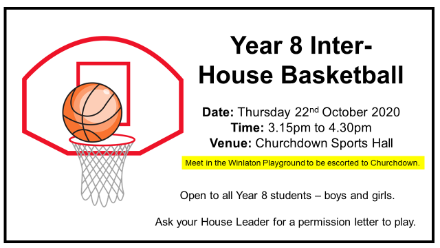Year 8 Inter House Basketball
