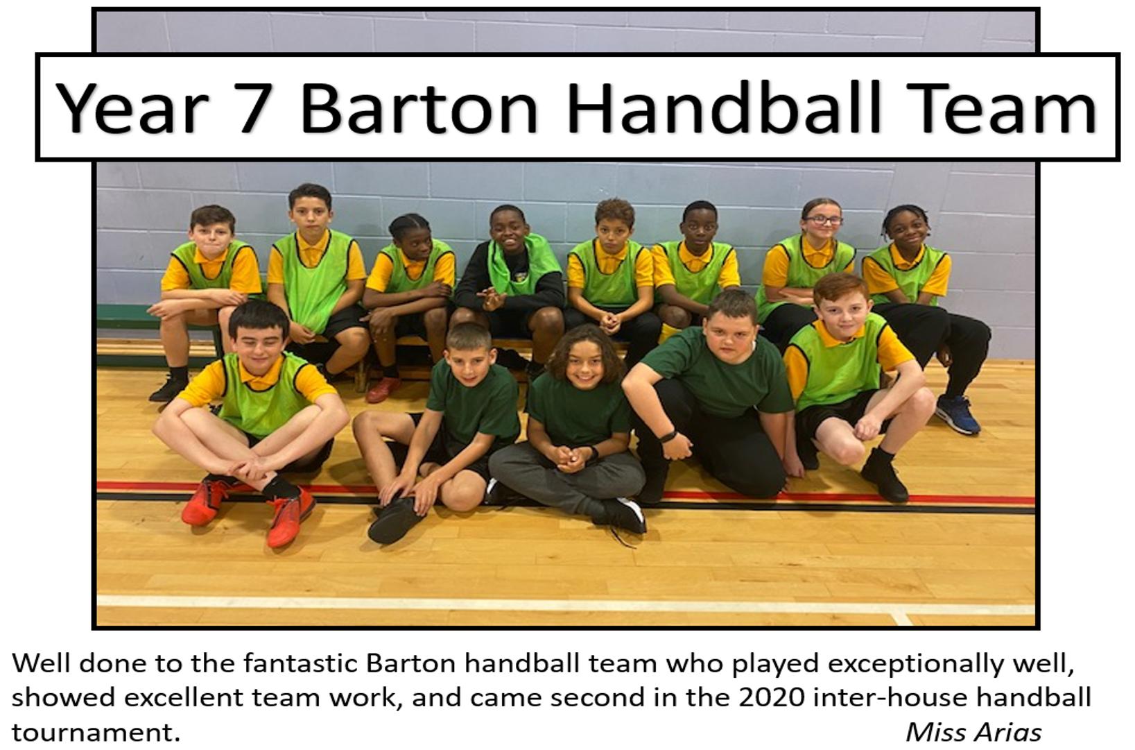 Barton Handball Team