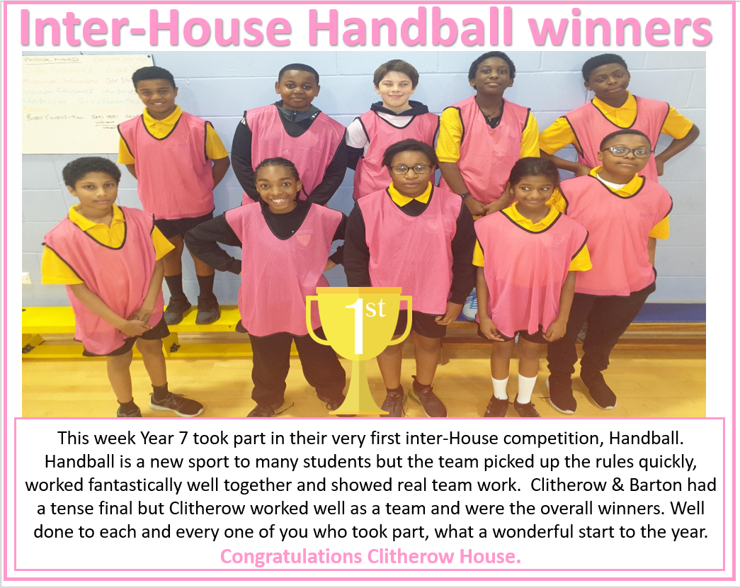 Inter House Handball Clitherow
