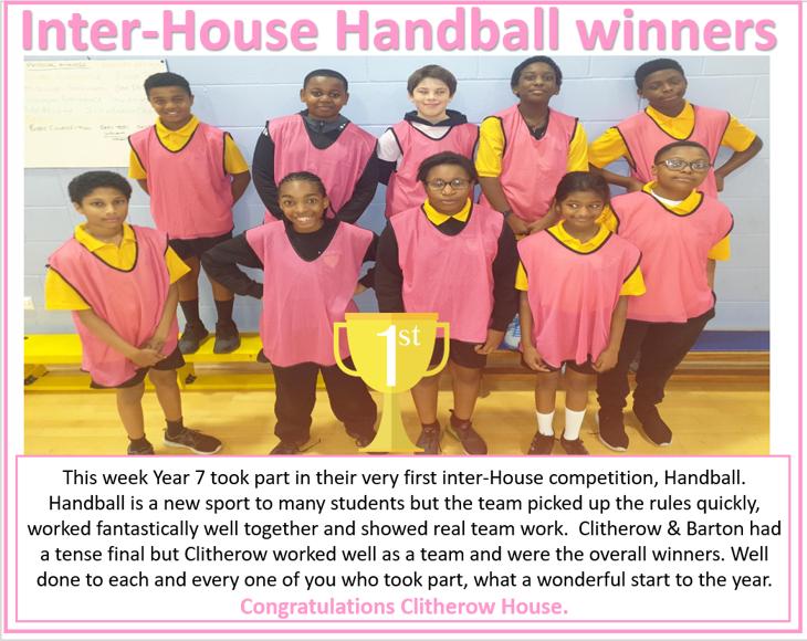 Inter House Handball Clitherow
