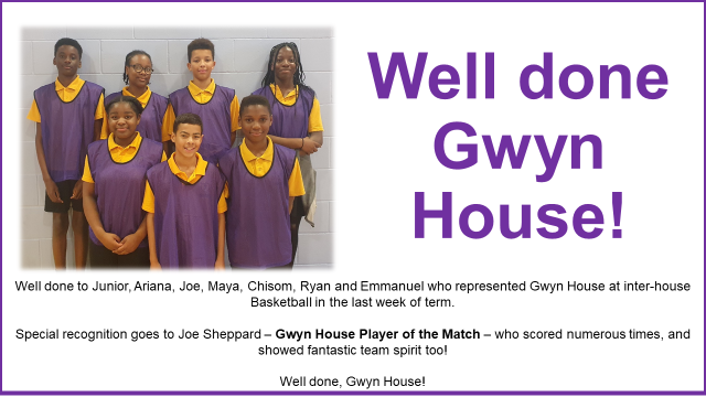 Gwyn House Basketball