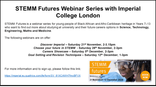 STEMM Futures Webinars