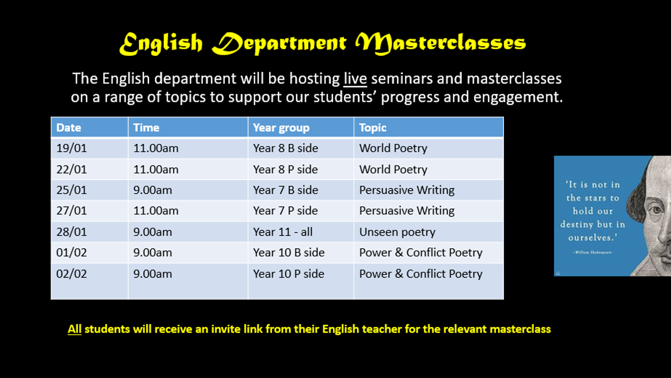 English Masterclasses