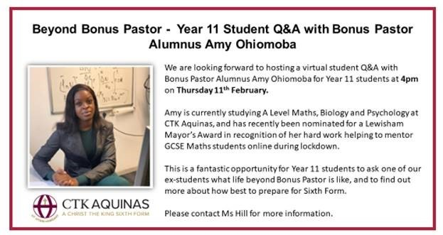 Alumni Talk with Amy