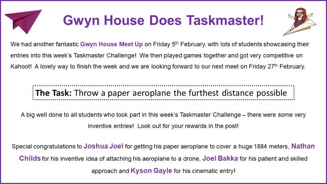 Gwyn House Task Master