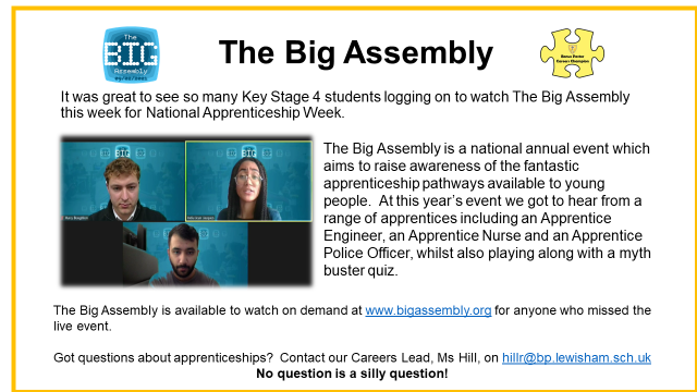The Big Apprenticeship Assembly