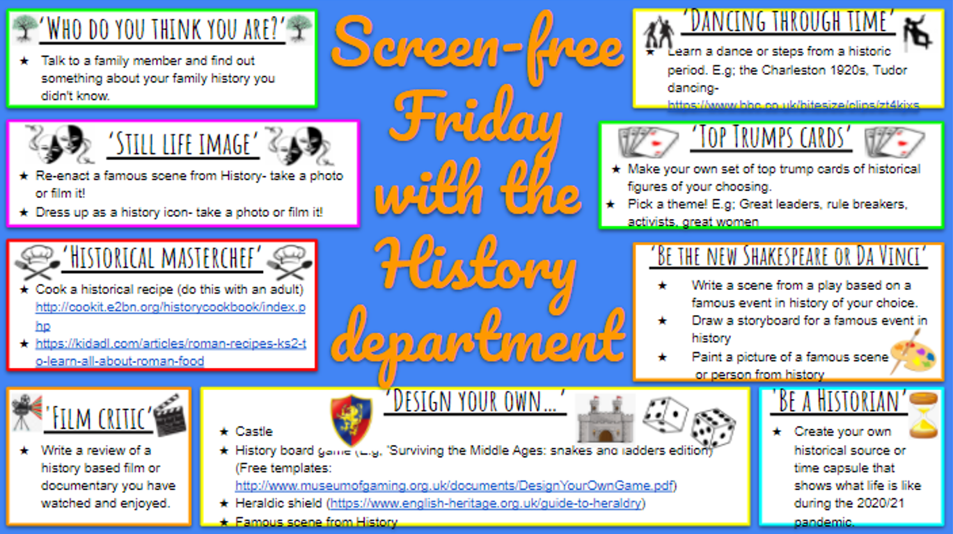 History No Screen Friday
