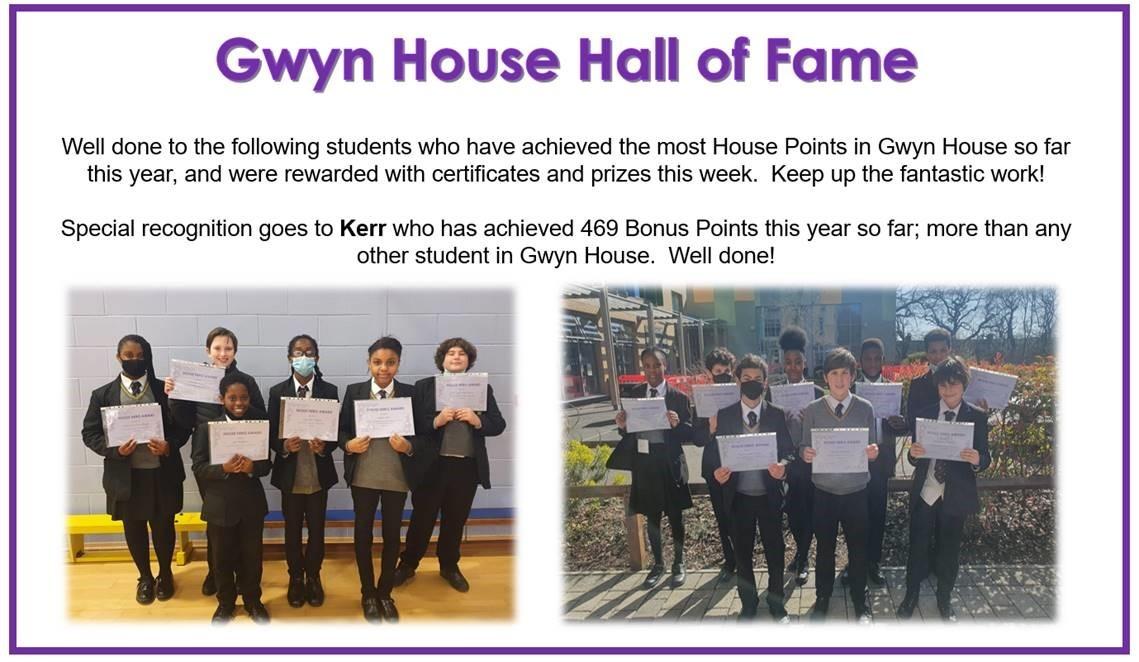 Gwyn Hall of Fame
