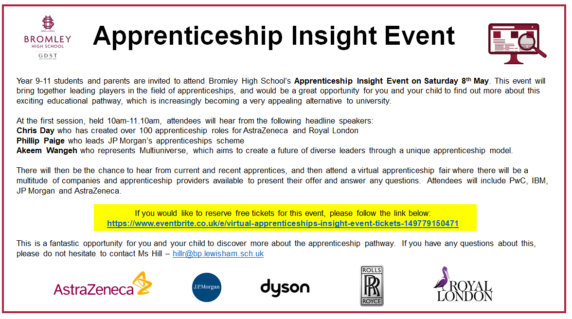 Apprenticeship Insight Event