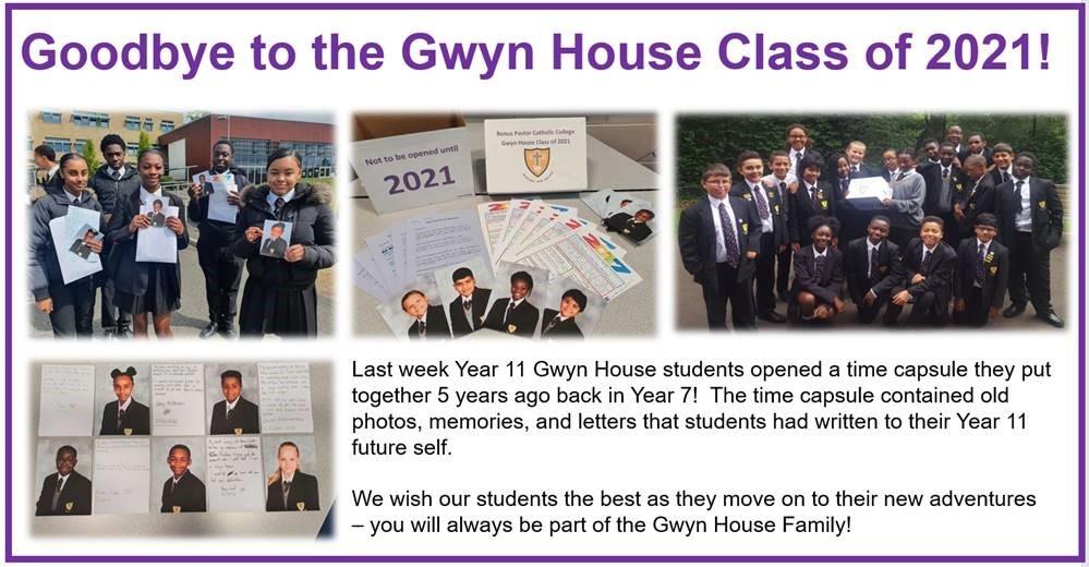 Goodbye Gwyn House Class of 2021