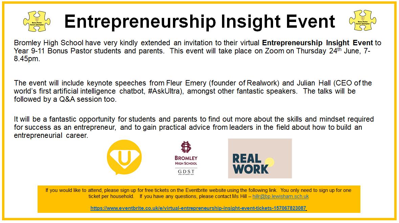 Entrepreneurship Insight Event