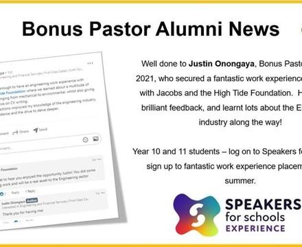 Alumni News   Justin Onongaya