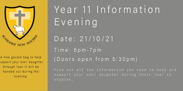 Year 11 Information Evening 2021